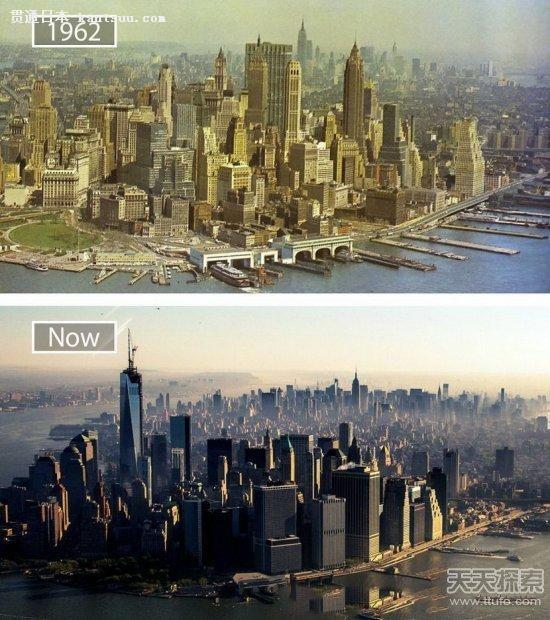 世界 热门 城市几十年前什么样:日本最夸张